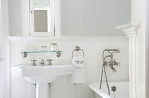 white beadboard bathroom cottage bathroom titan and co