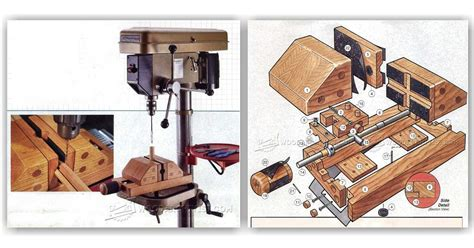 diy drill press vise woodarchivist