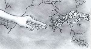 Reaching Out For The Past And Beyond The Grave Drawing by ...