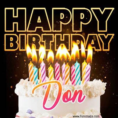 Don Birthday Happy Cake Funimada Whatsapp Animated