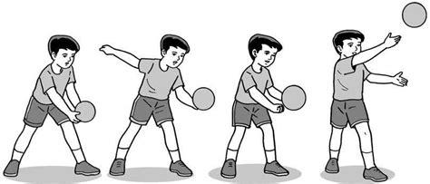 Jelaskan cara melakukan gerakan passing atas 2. 5+ Teknik Dasar Permainan Bola Voli: Service, Passing ...