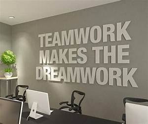 Teamwork Makes ... Wall Typography Quotes