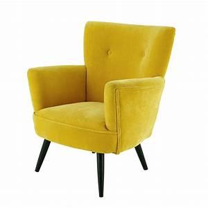 La Maison Möbel : sill n de terciopelo amarillo maisons du monde ~ Watch28wear.com Haus und Dekorationen