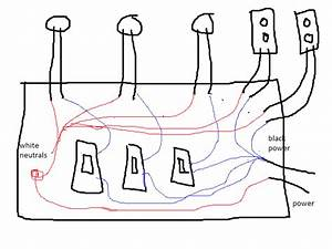 I Have Three Switches Hooked To A Main Power Supply To A Gfi What Shoud The Wireing Diagram Look