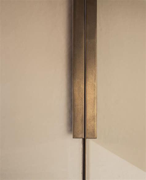 Cupboard Door And Handles by Echlin Leather Wardrobe Door With Bronze Handle And Inlay