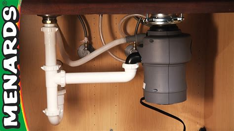 how do i install a kitchen sink garbage disposer how to install menards 9248