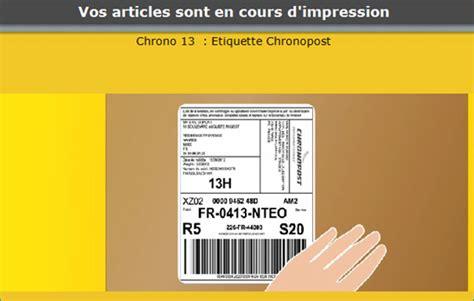 bureau de poste impression des étiquettes de transport sur les automates