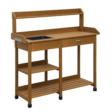 Bench Table With Storage by Modern Garden Potting Bench Table With Sink Storage