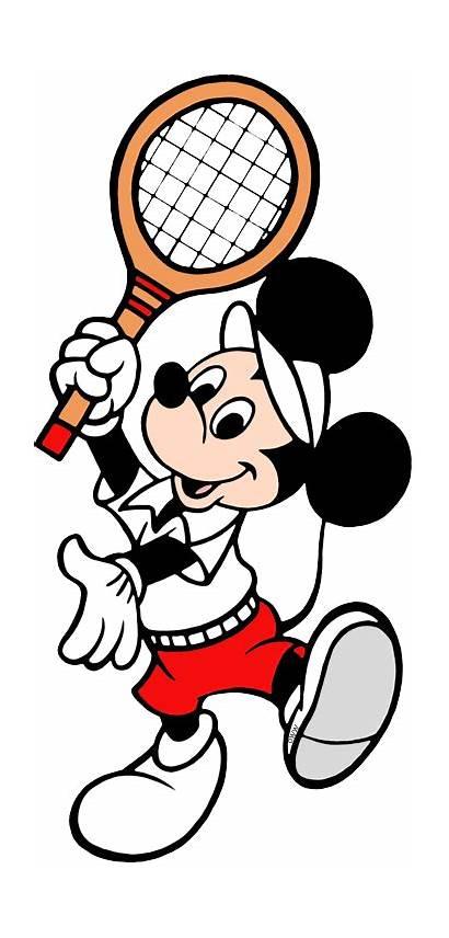 Tennis Badminton Mickey Clip Mouse Disney Galore