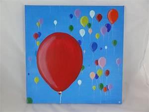 Leinwandbilder Selbst Gemalt : luftballons im himmel selbstgemalt auf 40x40 leinwand bilder pinterest luftballons ~ Orissabook.com Haus und Dekorationen