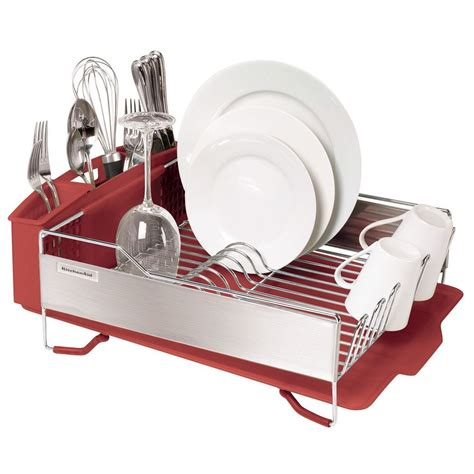 colorful kitchen knives kitchenaid kitchen aid dish rack w stainless steel panels