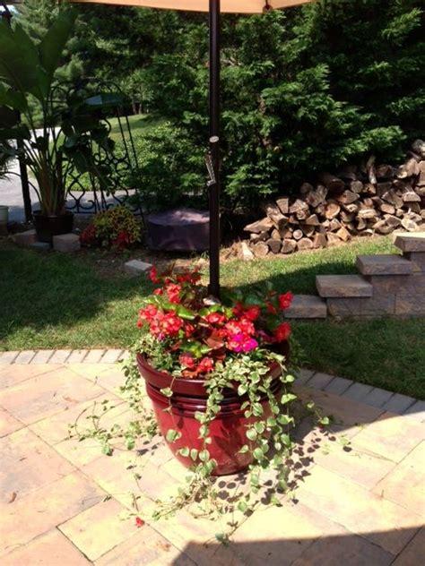 sunsetcom patio umbrella stand  planter