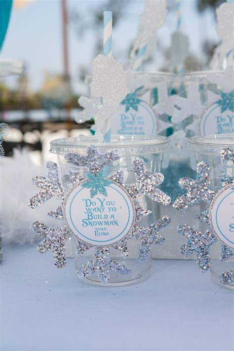 karas party ideas frozen winter wonderland themed