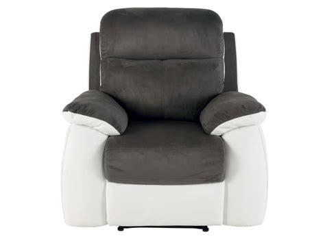 canape fixe 2 places conforama fauteuil relaxation white coloris gris blanc en tissu pu