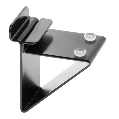 Black Shelf Brackets by Slatwall Glass Shelf Brackets Black