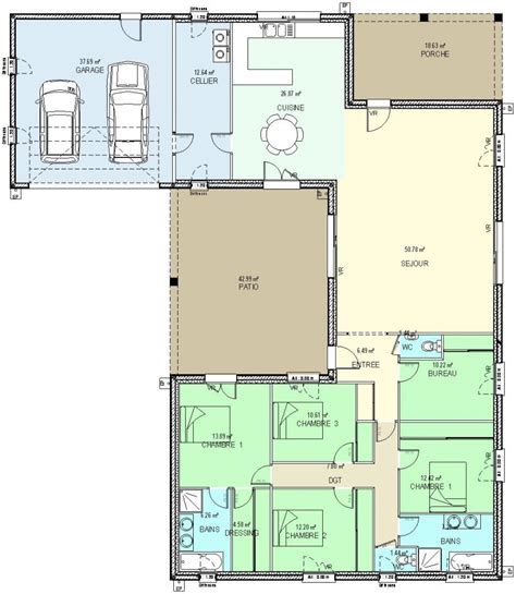 plan maison 1 chambre plan maison 6 chambres plain pied plan intrieure