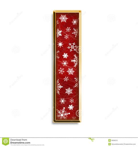 isolated christmas letter   red stock illustration image