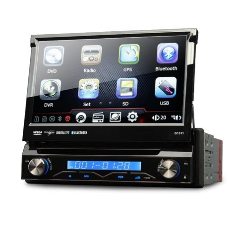 7 quot 1 din car dvd gps player single din car stereo gps navigation with dvd radio usb sd bluetooth