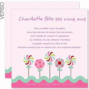 Theme Anniversaire Fille : carte d 39 invitation anniversaire fille a imprimer ~ Melissatoandfro.com Idées de Décoration
