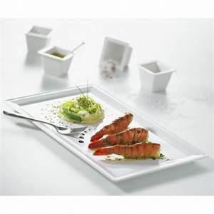 Assiette Rectangulaire Blanche : assiette rectangulaire en porcelaine blanche ~ Teatrodelosmanantiales.com Idées de Décoration