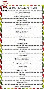 Free Christmas Charades Game Printable