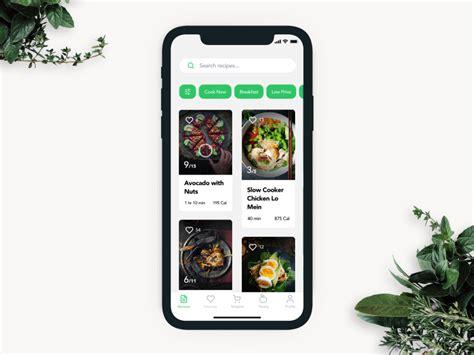 ui experiments options  recipe cards   food app