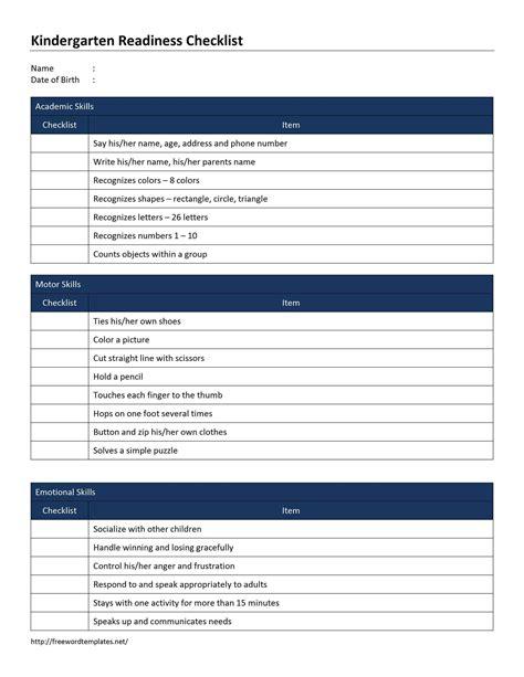 blank checklist template word cv sample waiter word