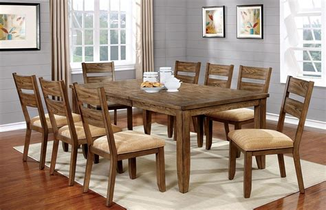 ava light oak dining room set  furniture  america