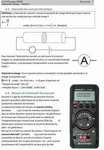 Amperemetre En Serie : electricite 1 charges lectriques rappel 1 1 ~ Premium-room.com Idées de Décoration