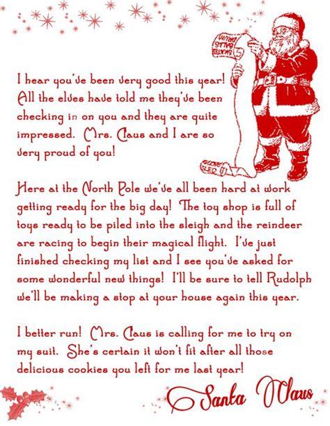 printable letters letter  santa  letters  pinterest