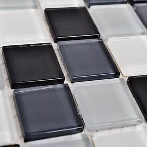 Mosaik Fliesen Schwarz : 20x glass mosaik fliesen schwarz wei grau 1 8 qm g nstig kaufen ~ Eleganceandgraceweddings.com Haus und Dekorationen