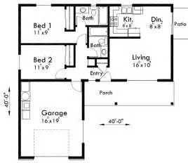 two bedroom two bath house plans adu small house plan 2 bedroom 2 bathroom 1 car garage