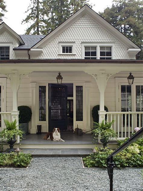 beautiful white farmhouse style home country white