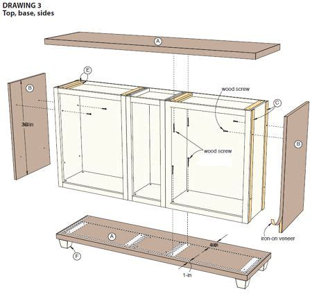 How To Make A Sideboard by Home Dzine Use Stock Cabinets To Make A Custom Dining