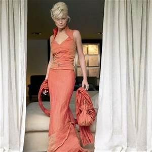 Die Schönsten Hochzeitskleider : lange oranje trouwjurk ~ Frokenaadalensverden.com Haus und Dekorationen