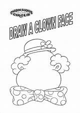 Circus Coloring Pages Clown Sheets Face Carnival Getdrawings Faces Draw Kindergarten Preschool Ringmaster sketch template