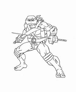 Free coloring pages of leonardo turtle