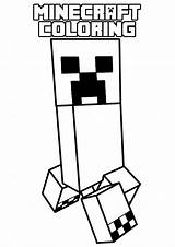 Coloring Minecraft Pages Printable Popular sketch template
