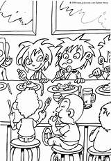 Lunch Coloring Pages Tiny sketch template
