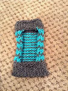 Rainbow loom iPod / phone case (turquoise and gray) I Made ...