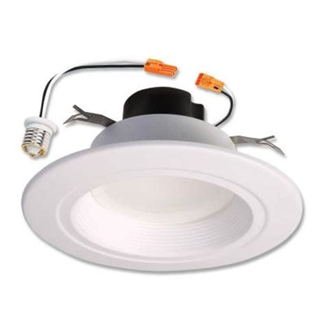 can light trim led halo 5 in and 6 in matte white recessed retrofit baffle