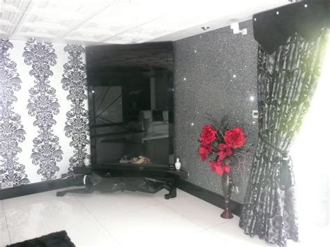 silver glitter wallpaper  walls gallery