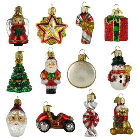 nostalgic miniature glass christmas ornament gift set