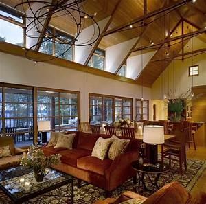 vermont lake house rustic living room burlington With interior decorators in vermont