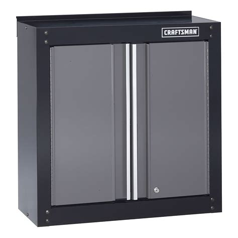 sears garage floor cabinets craftsman 28 quot wide wall cabinet black platinum