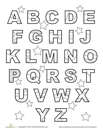 abc coloring page preschool abc worksheets preschool