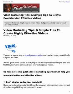 Video Marketing Tips: 5 Simple Tips To Create Powerful And ...