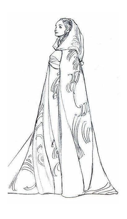 Concept Drawing Character Padme Sketches Amidala Wars