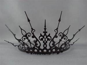 Ultima - Black Filigree Gothic Tiara Evil Queen Crown Evil ...