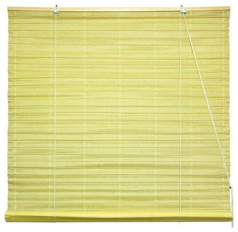 Paper Blinds by Shoji Paper Roll Up Blinds In Light Yellow 3